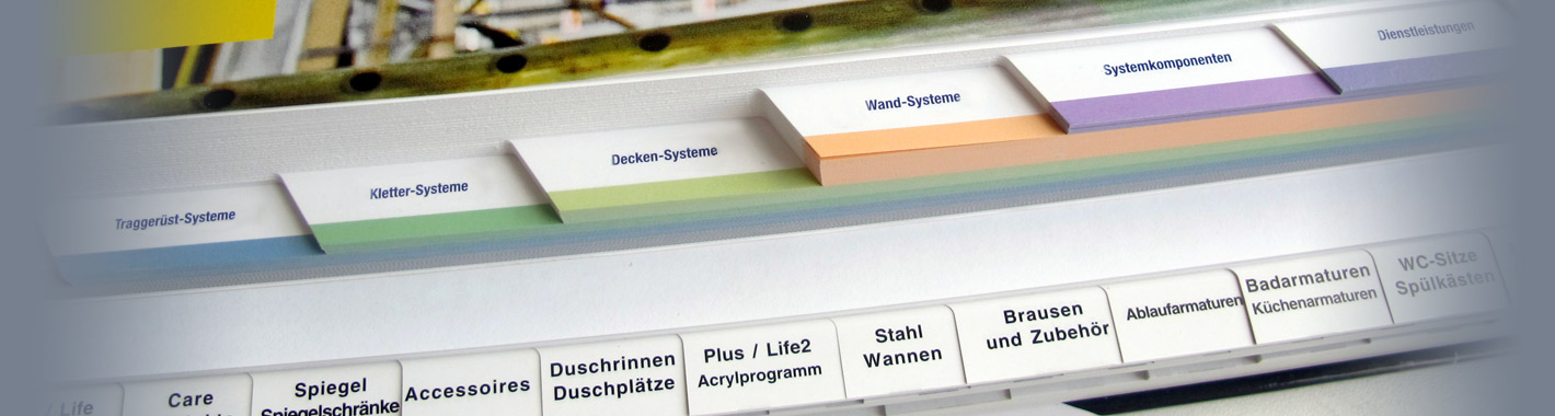 Ukázka různých typů vysekaných hmatníků